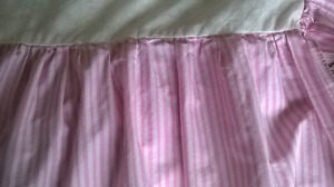 Crib Bed Skirt and 2 Fitted Sheets Set for Baby Crib/Toddler Bed