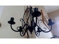 chandelier light 5 arm in black