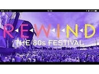 Rewind Festival ticket with camping Swindon