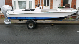 15' Dory Boat with 30hp Yamaha Outboard oil Injected