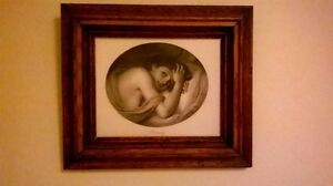 Vintage Print in Antique Frame