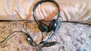 Logitech head set with microphone
