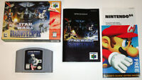 Star Wars Shadows of the Empire N64 Complete in box