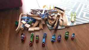 Thomas trains and wooden tracks