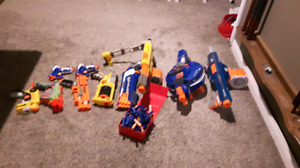 Nerf Gun collection with bullets