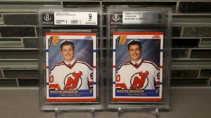 (2) 1990-91 Score Martin Brodeur Rookie Hockey Cards
