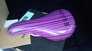 New Purple Blank Bike Seat - still in package