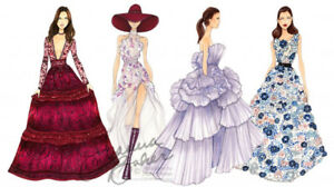 Fashion and accessories illustrations