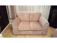 Lovely Large Two Seater Fabric Fabric Armchair