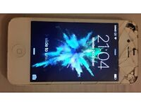 Cracked iPhone 4s White 8GB