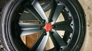 """Set of 4 - 24"""" Niche Rims and Tires"""
