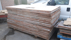 Forming plywood