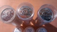 1964 5C Canada 5 Cents Roll 40 coins - Brilliant Uncirculated