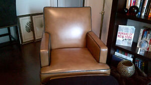 $2,500 Custom Leather Chair from Ethan Allen for $1,100