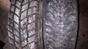 2 snow tires. Hankook and Goodyear 185/70/14