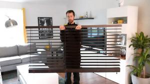 Store horizontal imitation bois