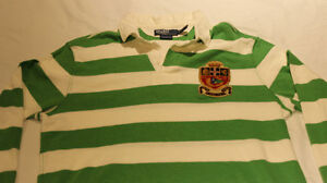 Vintage MINT POLO Ralph Lauren Striped Rugby Patch - Large