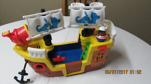 Fisher Price Pirate ship with pirate guy!