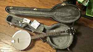 Banjo - Epiphone MB-100, case and accessories