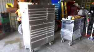 Stainless steel top and bottom tool box