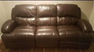 Italian Leather Reclining Couch