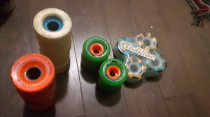 Long board wheels two sets never used 140 obo