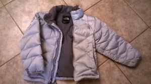 North Face Jacket Girls Extra Small - Silver/Gray