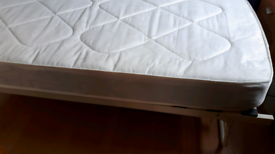 Trundle sinngle guest bed frame and mattress