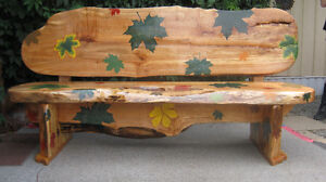 Bench with live edge