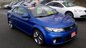 2012 KIA FORTE SX COUPE only $ 5595 / CERTIFIED