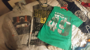 Boys clothing,  1 hoodie, 3 t-shirts - $25