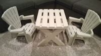 Toy Adirondack Table and Chairs Set