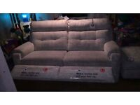 G plan manual reclineing sofa new