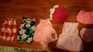 12-18 month summer baby girl rompers skirt and tanks