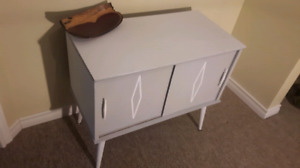Grey and White Credenza