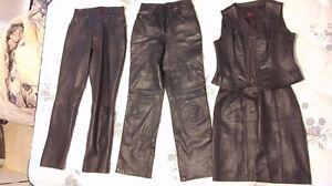 Vêtements en cuir