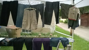 Mens tops and pants - S/M shirts, 30-34 inch waist pants - $2 ea