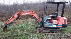 Trade excavator for deer hunting land