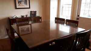 Large pub style table set with matching sideboard