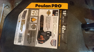 Brandnew 18 gas chainsaw poulan pro.