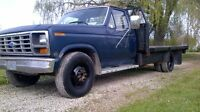 1986 Ford F-350 Flatbed Diesel.  Trade.