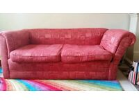 Chesterfield antique 3pc sofa. With all ball castors and made to measure covers.
