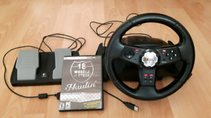 Logitech steering wheel for sale!