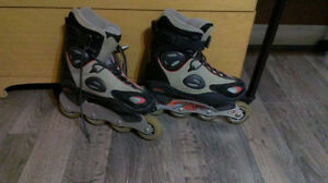 patin a roue allignee