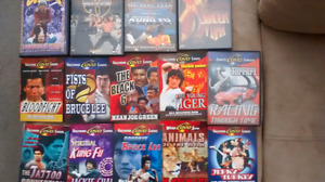 Assorted Kung Fu classic DVDs plus some others