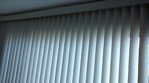 "Vertical Blind Blinds Stores  105"" x 7ft  Perfect Condition"