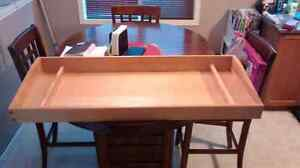 Solid wood change table top Kitchener / Waterloo Kitchener Area image 1
