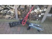 Pit bike frame and swingarm