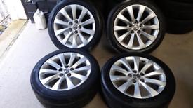 "Vauxhall 18"" Insignia Sri Elite Alloys Wheels and tyres Genuine"