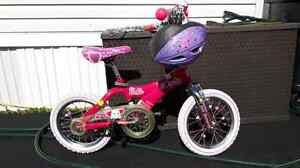 Girl's Barbie Bike and Helmet